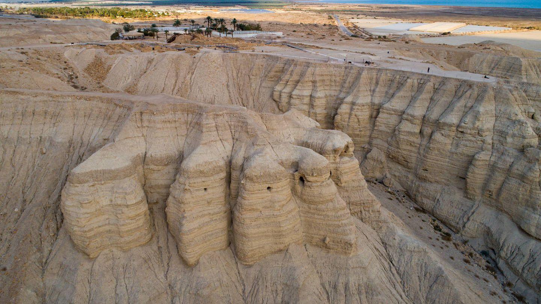 El valle de Qumrán, donde fueron encontrados los restos arqueológicos. (iStock)