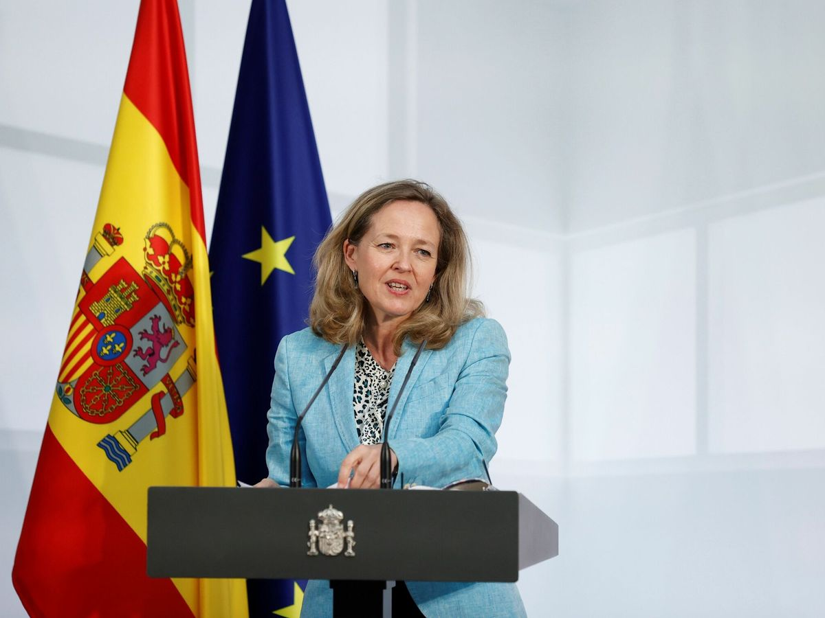 Foto: La vicepresidenta primera del Gobierno y ministra de Asuntos Económicos y Transformación Digital, Nadia Calviño (EFE)