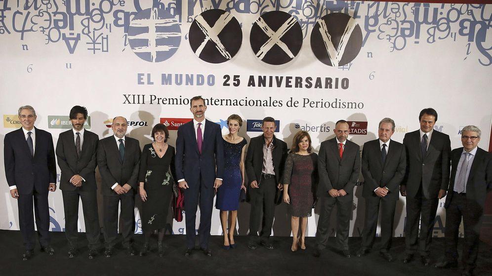 Foto: Los Reyes presidieron el 25 aniversario de 'El Mundo', el pasado mes de octubre (EFE).