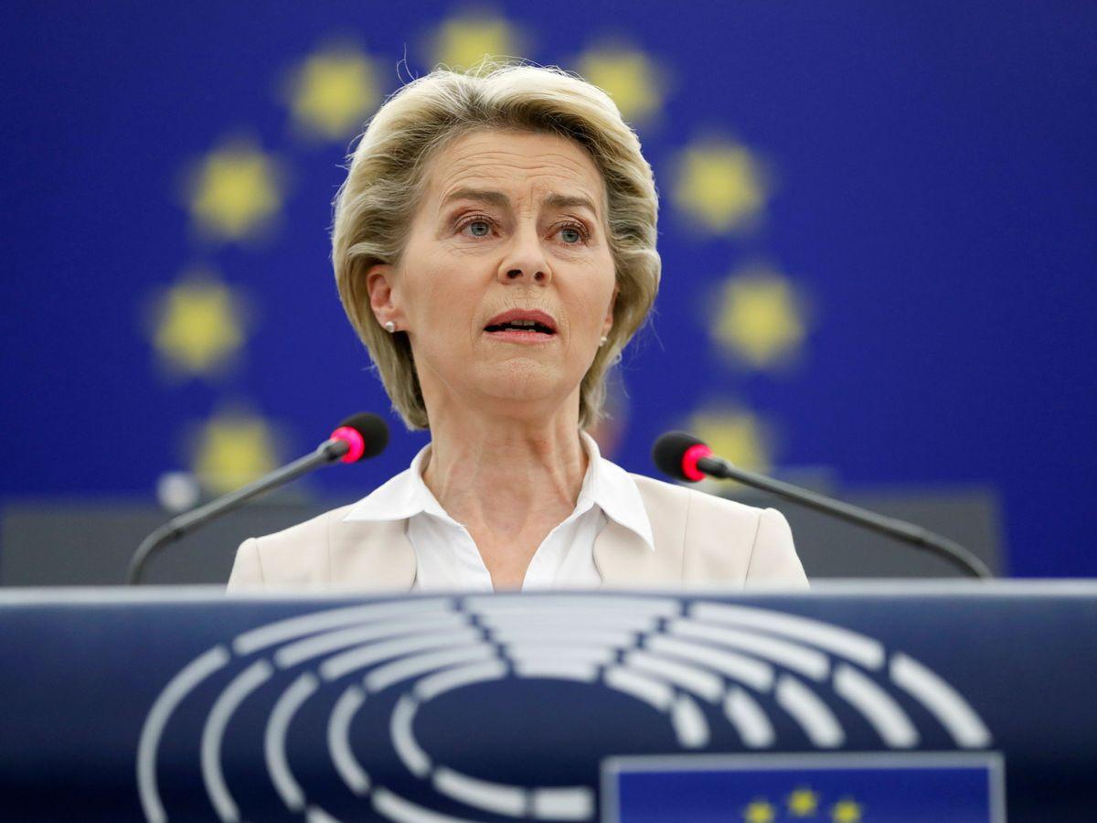 Foto: Ursula Von der Leyen durante un pleno de Estrasburgo. (Reuters)