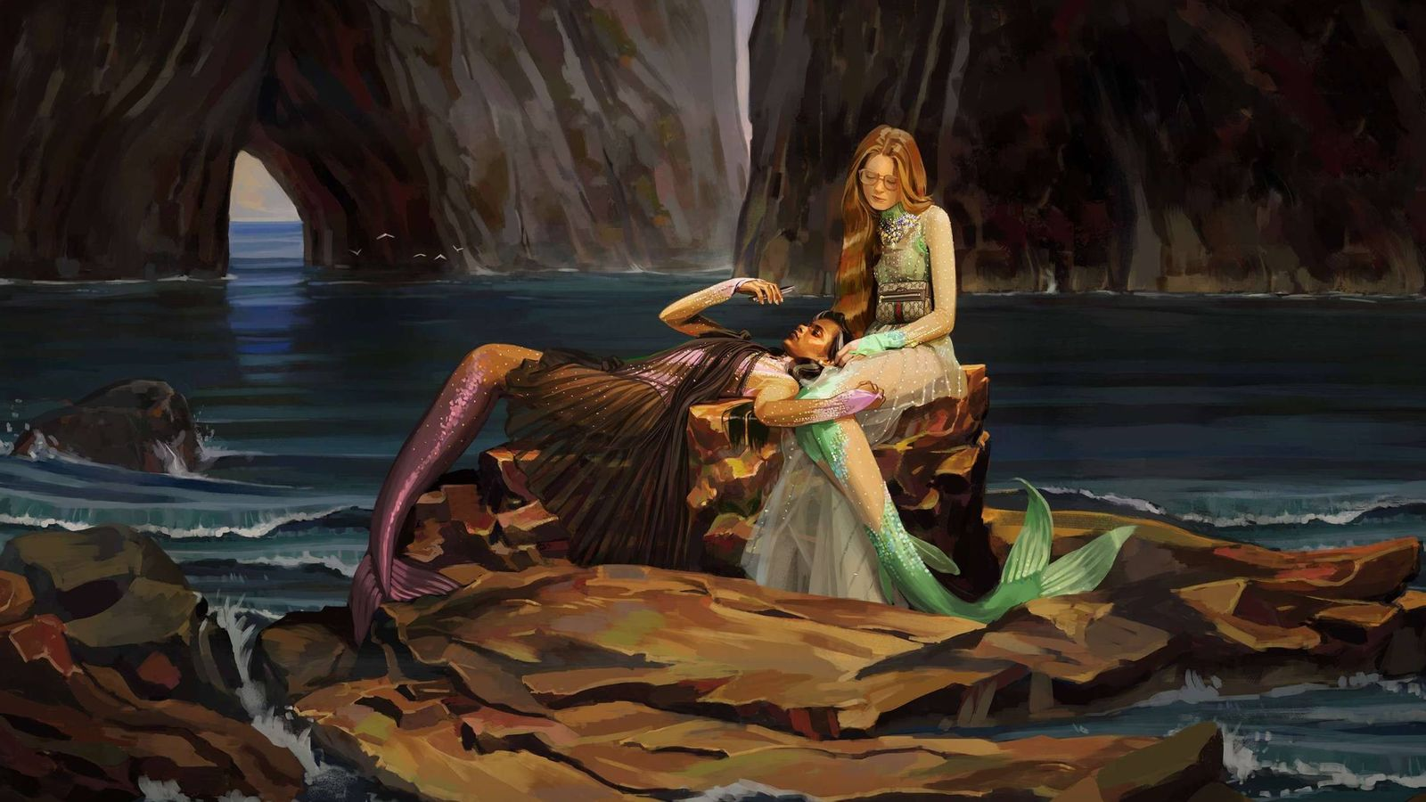 Foto: Sirenas en la ilustración de Ignasi Monreal para Gucci.