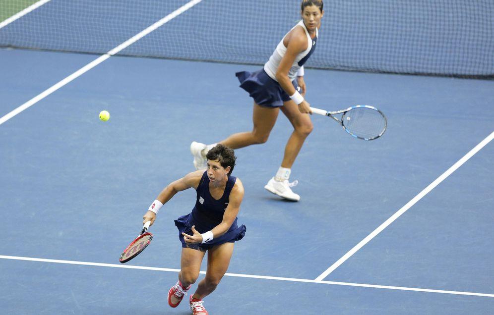 Foto: Muguruza-Suárez perdieron en su primer partido de dobles (Efe).