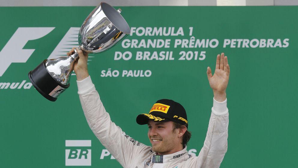 Rosberg mantiene a raya a Hamilton en Brasil y Alonso logra terminar