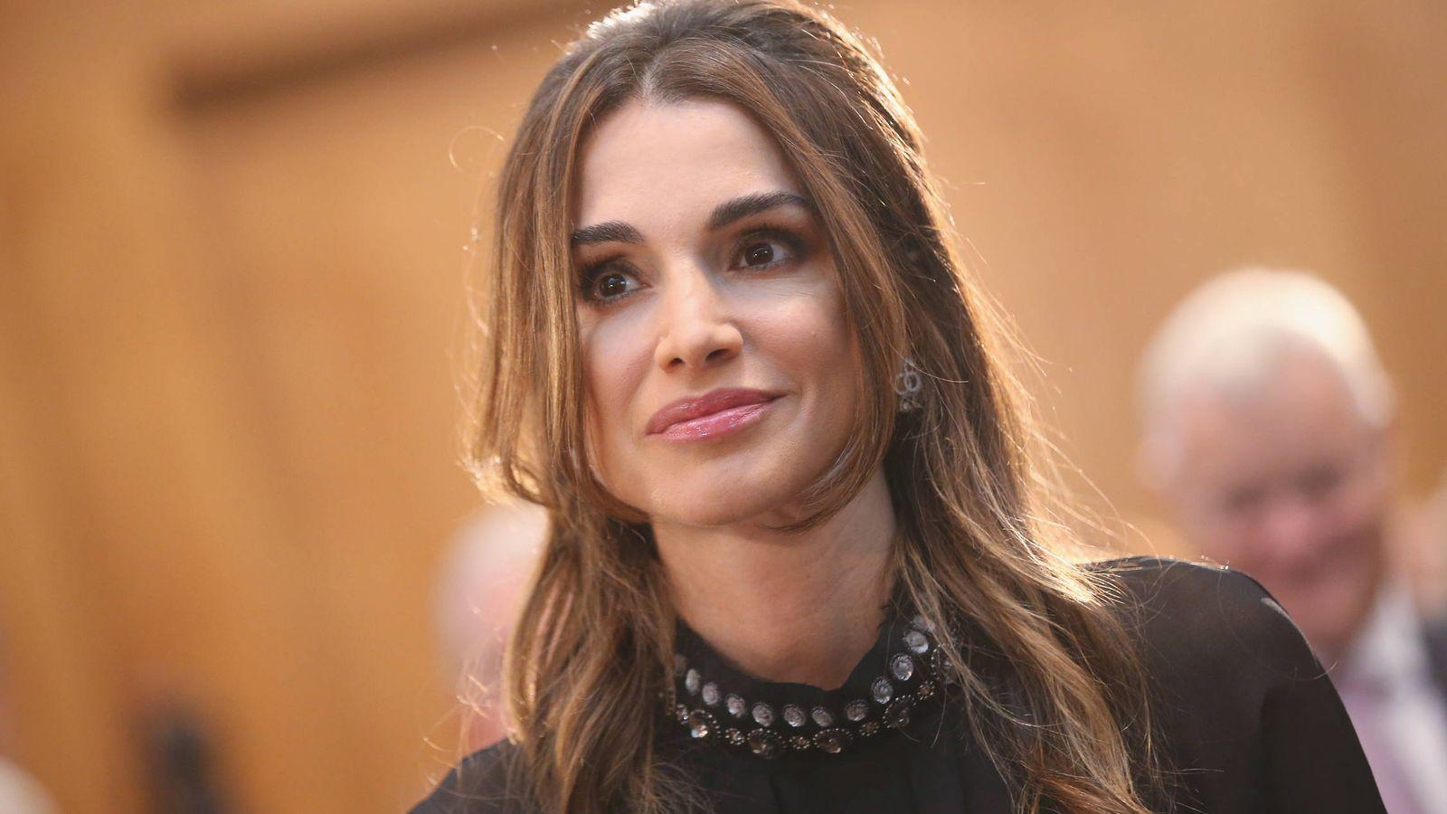 Foto: La reina Rania, en un acto en Alemania. (Getty)