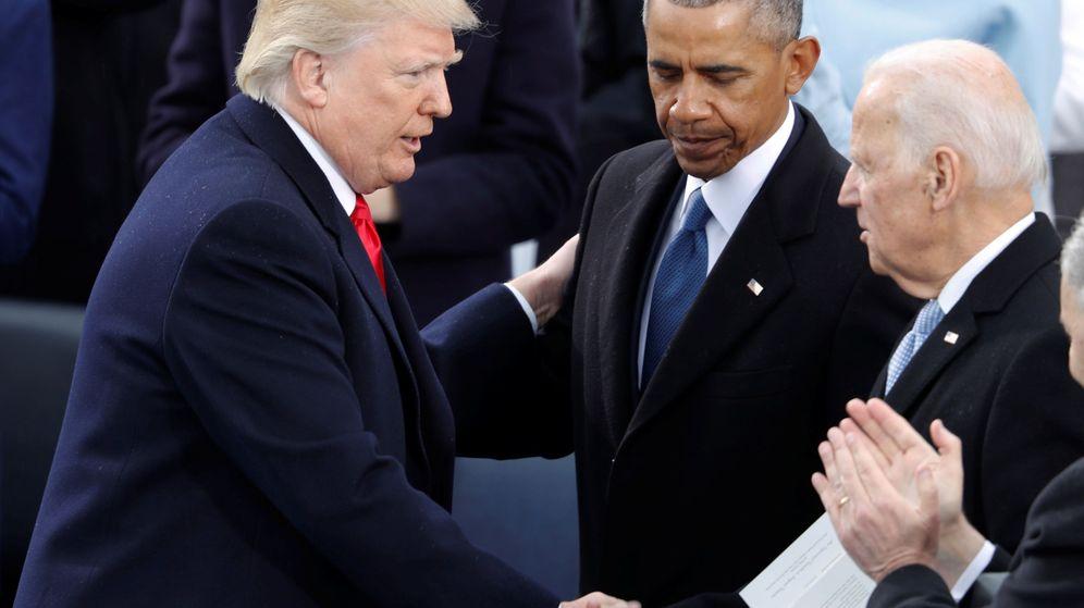 Foto: Obama y Trump durante la ceremonia de nombramiento de este último como Presidente de los Estados Unidos. (Reuters)