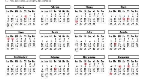 Calendario laboral 2017 en la Comunidad de Madrid: 12 festivos y puente de mayo
