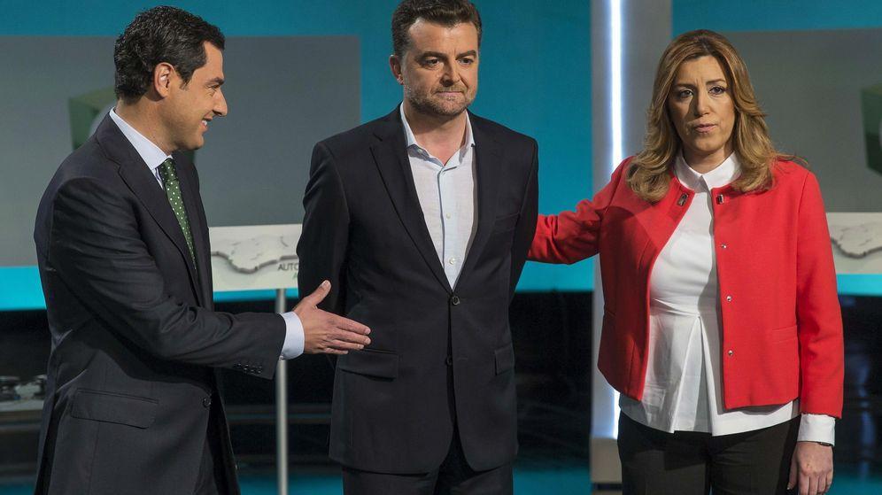 Foto: Los tres candidatos a la Presidencia de la Junta de Andalucía de los partidos con representación en el Parlamento andaluz. (EFE)