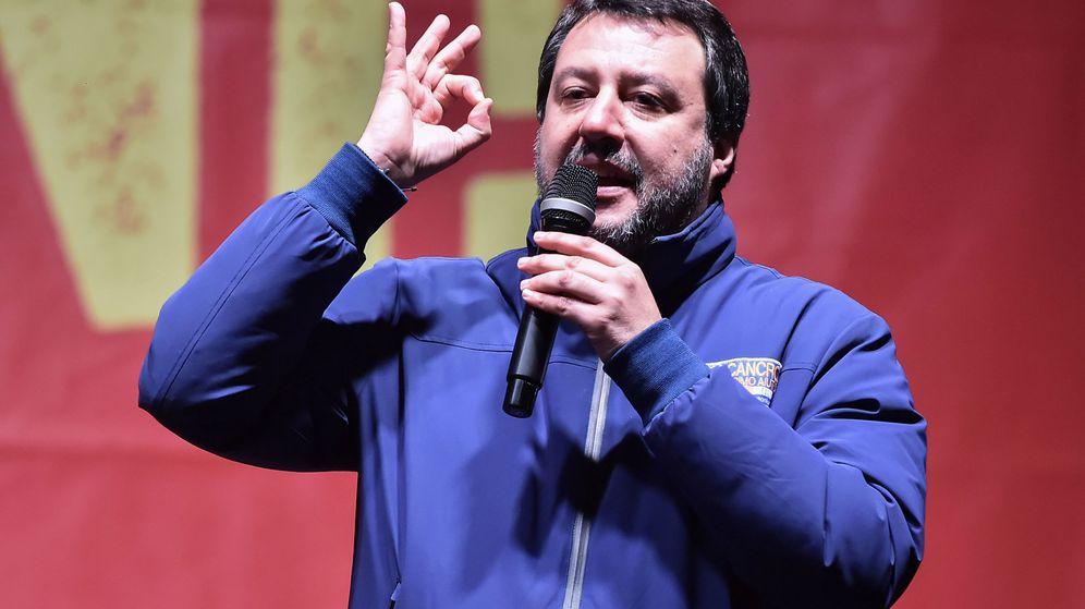 Foto: Matteo Salvini en un mítin en la región italiana de Emilia-Romaña. (Reuters)