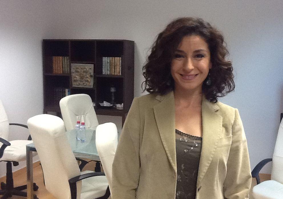 Foto: Vanesa Escobar, en los platós de 13 TV