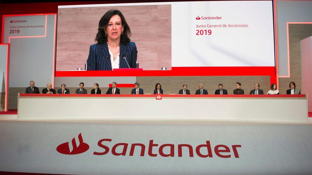 Foto: Junta de Accionistas del Banco Santander (Efe)