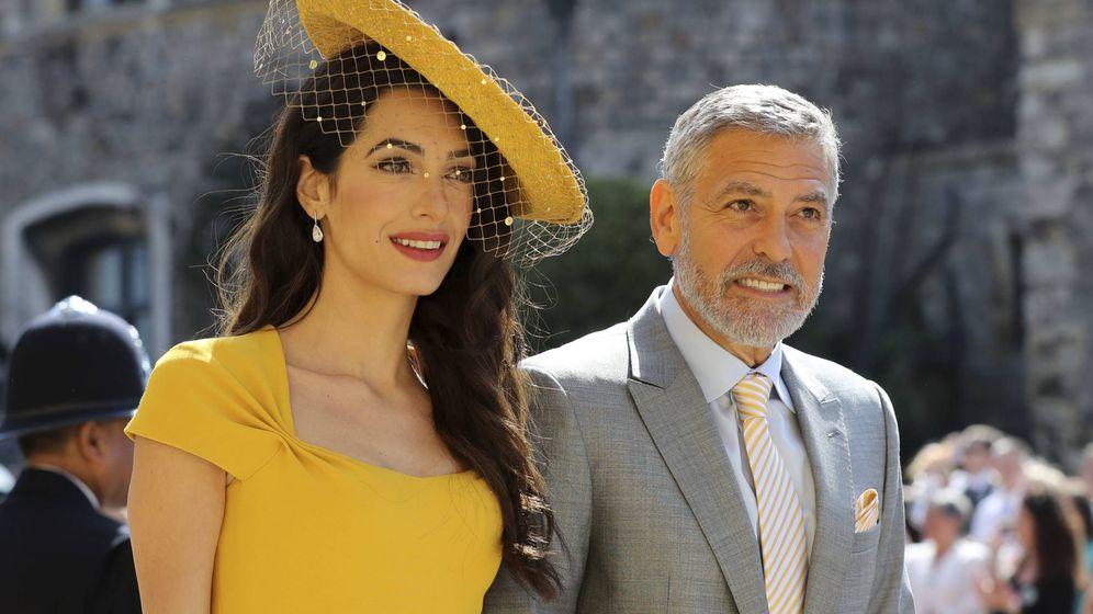 Foto:  Amal y George Clooney, a su llegada a la boda. (Gtres)