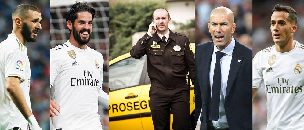 Foto: Benzema, Isco, Zidane y Lucas Vázquez. (EFE)