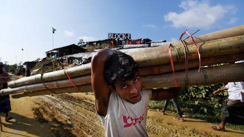 Refugiados rohinyás en el distrito de Cox's bazar