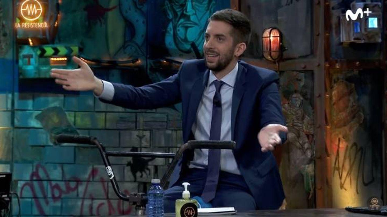 David Broncano, durante la entrevista a Courage Adams en 'La resistencia'. (Movistar+)