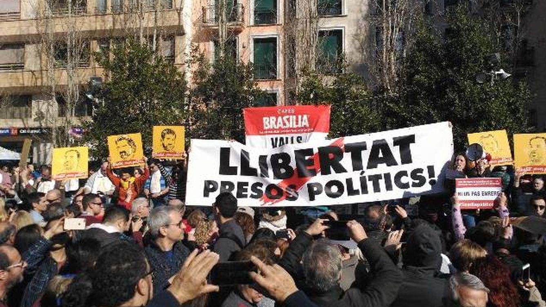Marchas en Girona y Barcelona por la libertad de los Jordis, Junqueras y Forn