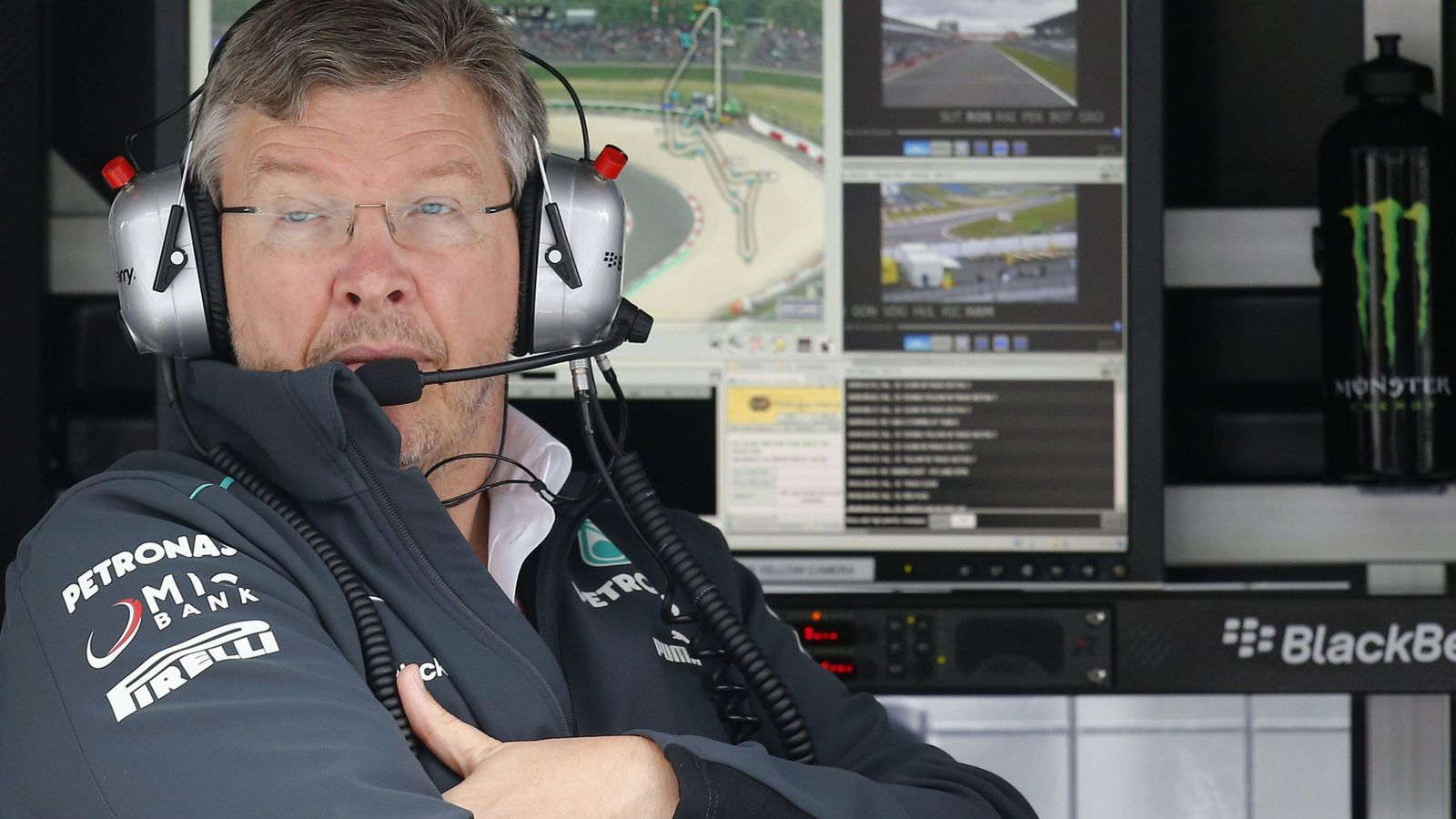 Foto: Ross Brawn, en su época con Mercedes.
