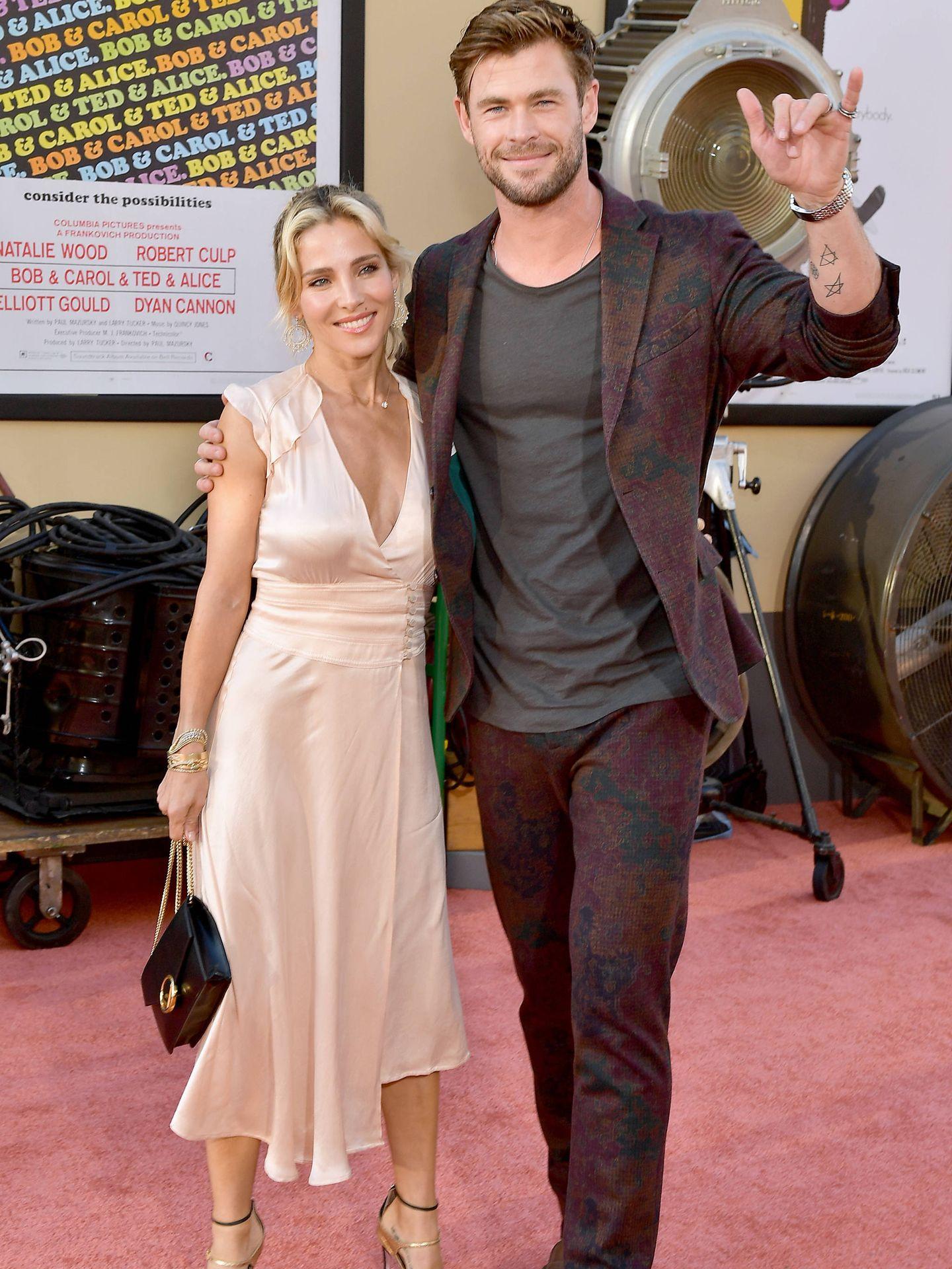 Elsa Pataky, junto a su marido, el actor Chris Hemsworth. (Getty)