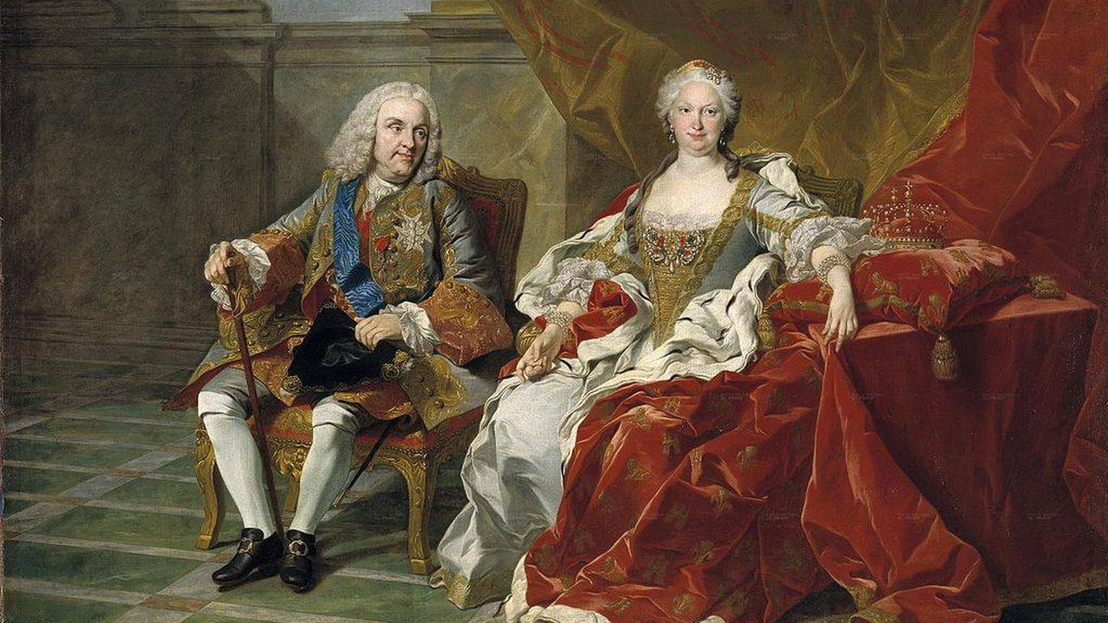 Foto: Felipe V con Isabel de Farnesio, por Louis-Michel van Loo. (Wikimedia Commons)