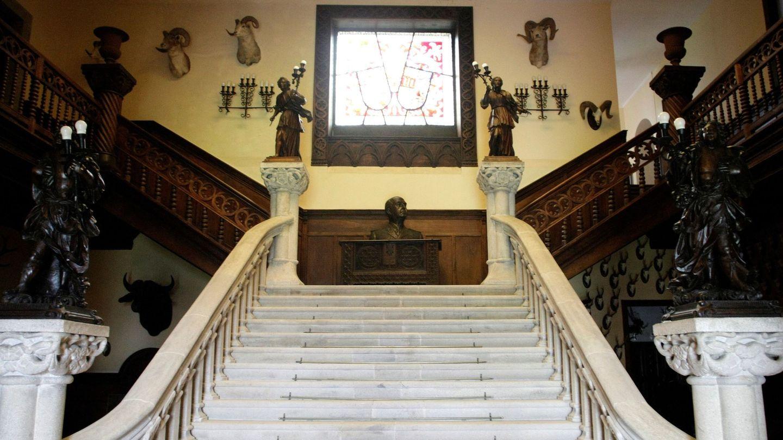 Escalinata de entrada al pazo de Meirás. (EFE)