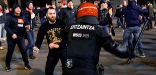 Post de La Ertzaintza, en pie de guerra laboral en plena visita de los ultras del Marsella