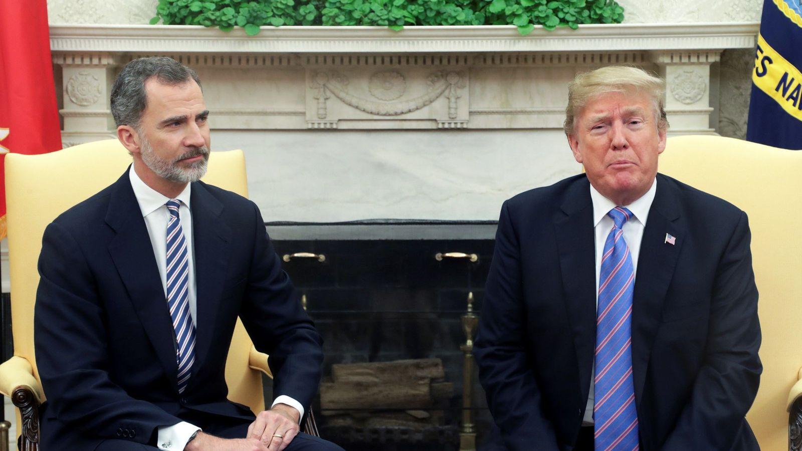 Trump expresa al Rey sus condolencias por las muertes en España del Covid