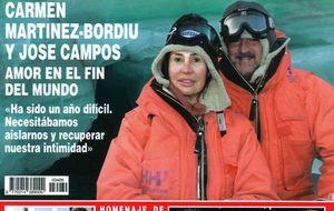 Carmen Martínez-Bordiú, en el Ártico... y Belén Esteban, en el Caribe