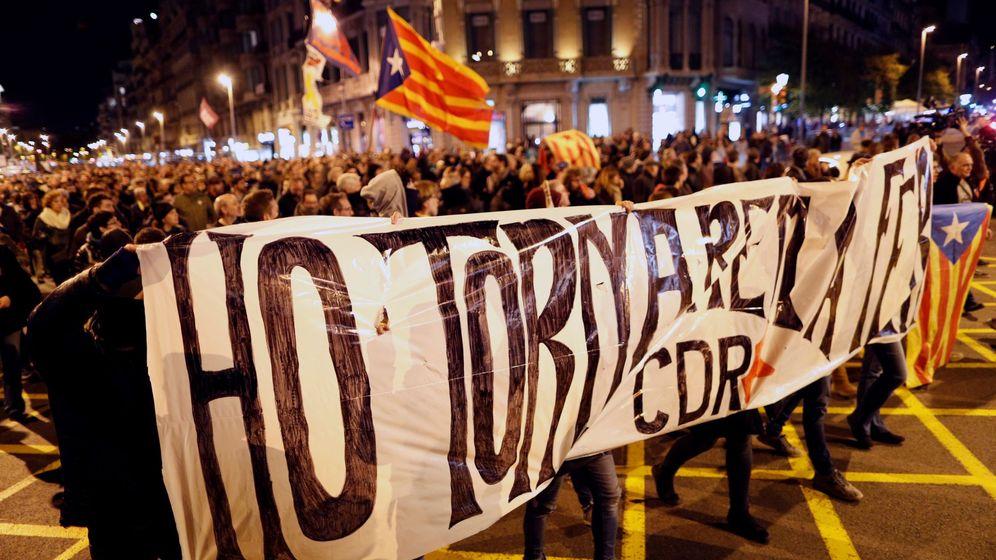 Foto: Manifestación de los CDR en Barcelona, a principios de noviembre. (EFE)