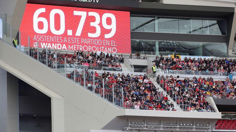 Hace un año, el Wanda Metropolitano batió el récord de asistencia a un partido de fútbol femenino en España. (EFE)