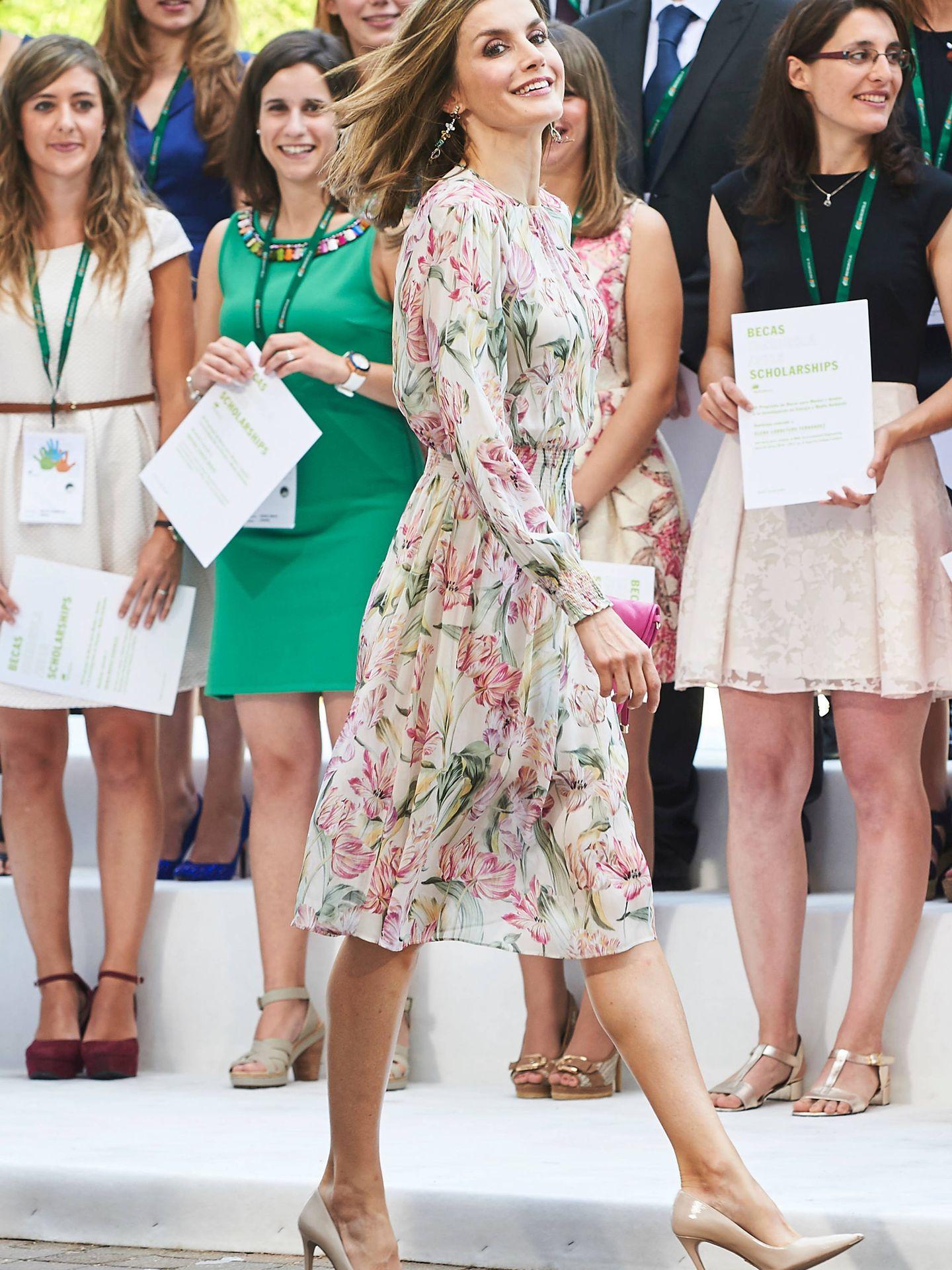 Letizia, con un vestido de Zara en 2016. (Limited Pictures)