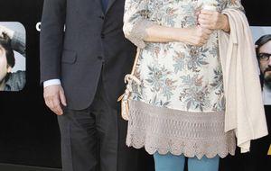 Florentino Pérez y Fefé, noche de cine con sus mujeres