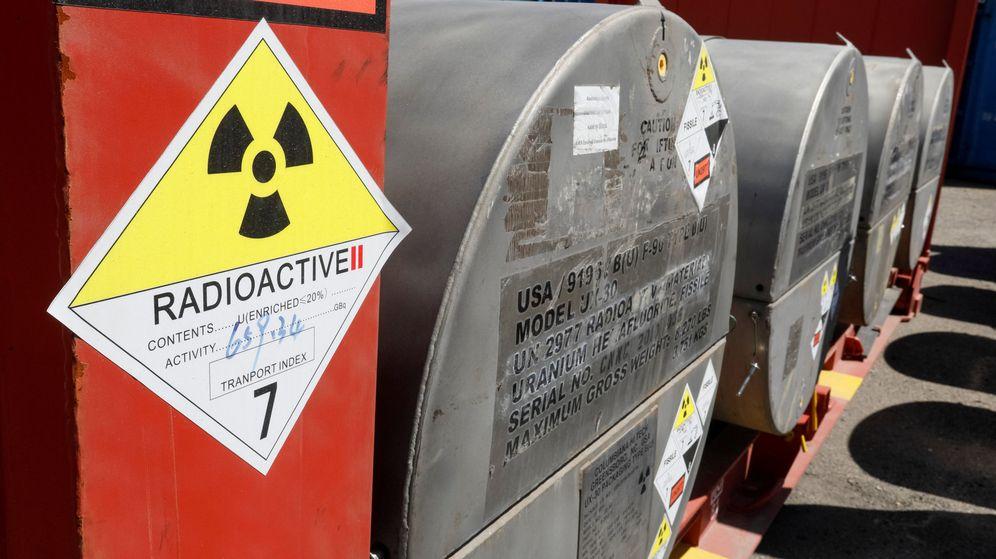 Foto: Contenedores con uranio. (Reuters)