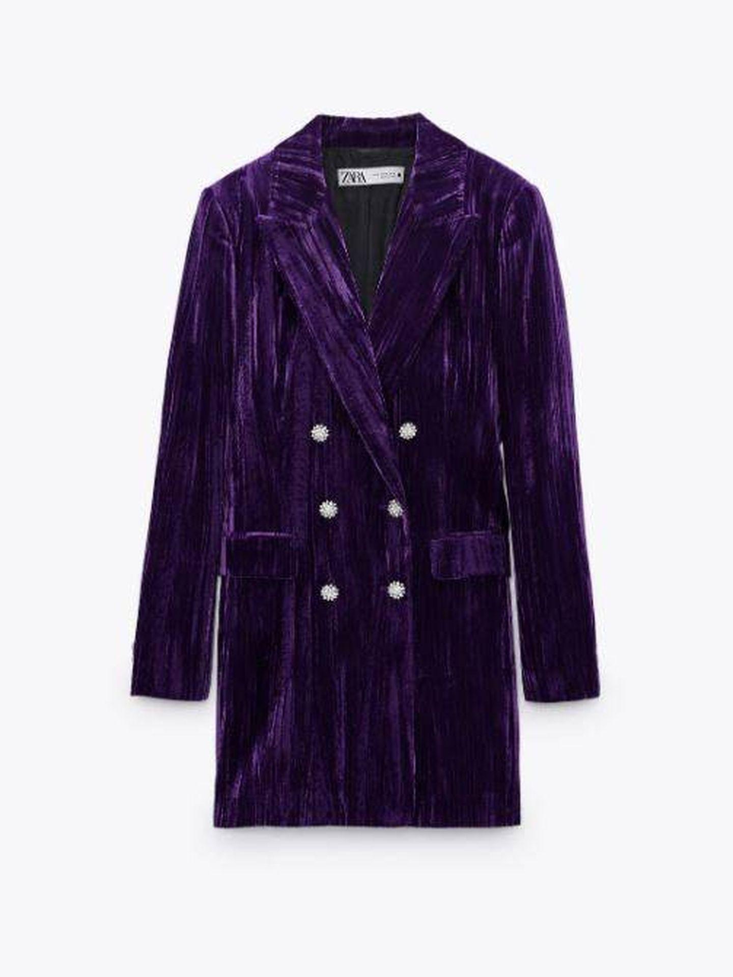 Blazer vestido de Andrea Levy. (Zara)