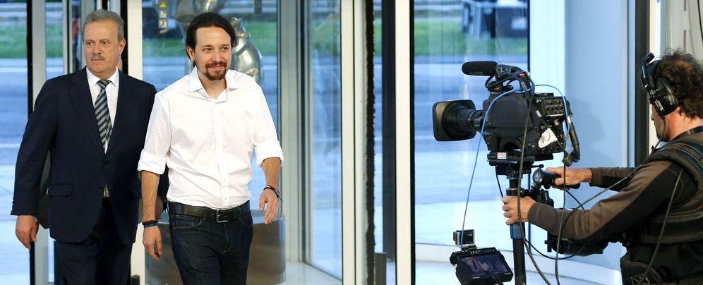 Foto: Pablo Iglesias, en el debate a cuatro del pasado lunes. (EFE)