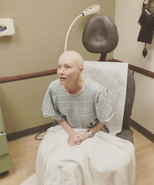 Foto: Shannen Doherty tras la sesión de radioterapia (Instagram)
