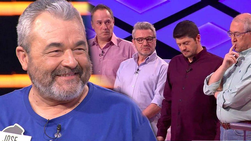 Foto: José Pinto, Manu, Erundino, Valentín y Alberto, en '¡Boom!'. (Antena 3)