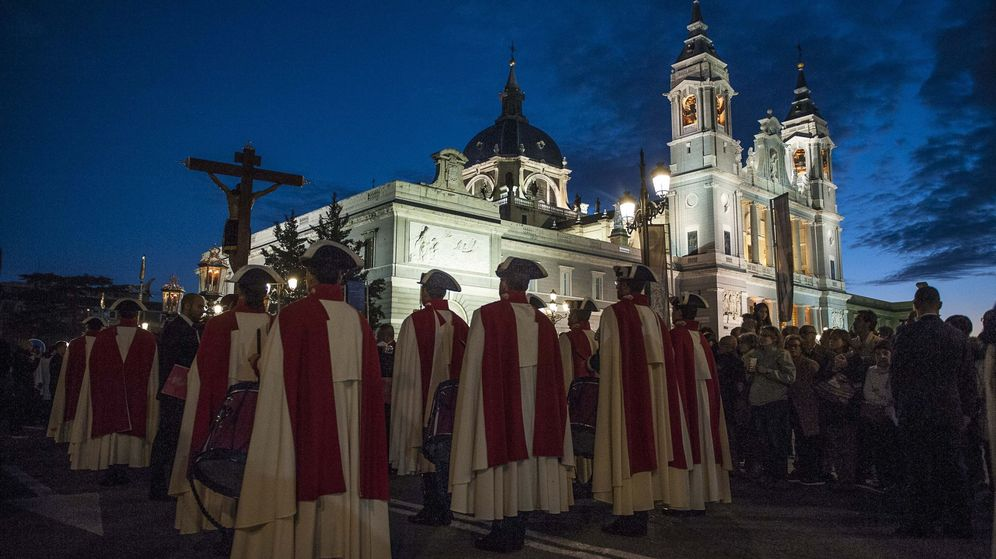Foto: Procesión del Cristo de los Alabarderos en Madrid. (Cordon Press)