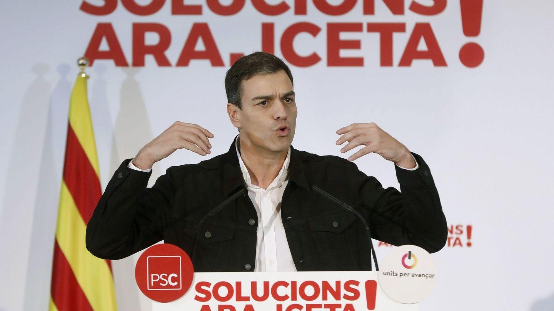 Pedro Sanchez en el mitin electoral celebrado en Mataro (Barcelona). (EFE)