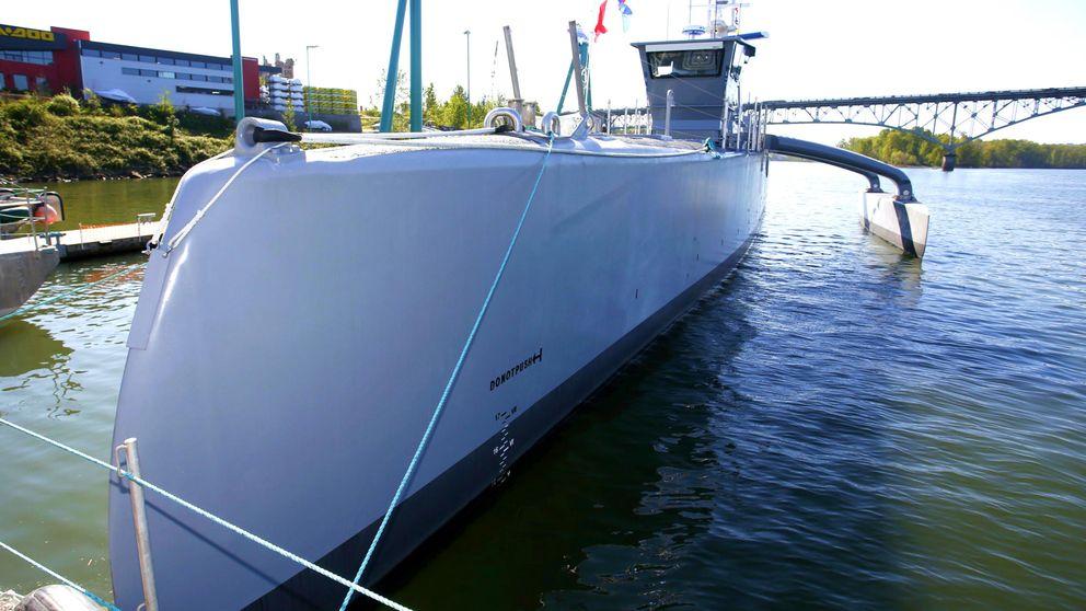 EEUU muestra su buque autónomo experimental para 'cazar' submarinos