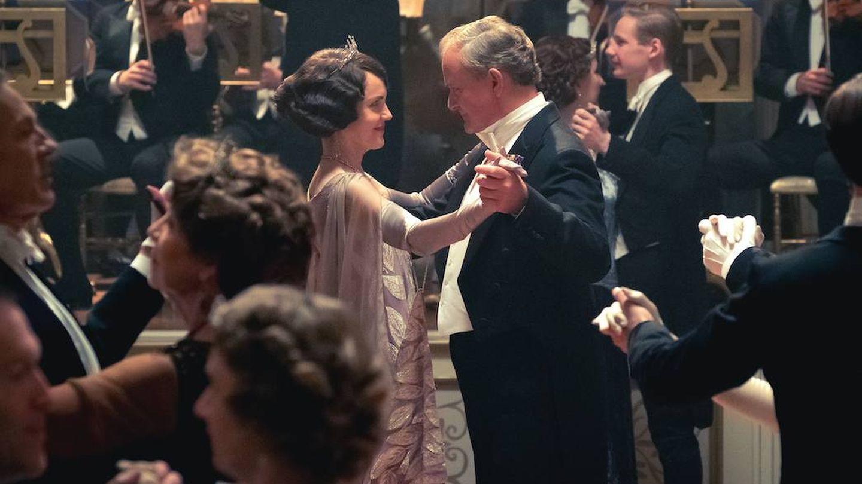 Los condes de Grantham en la película.  (Cortesía)