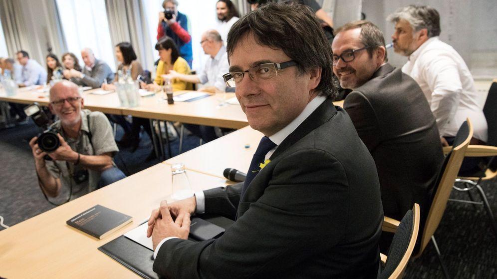 Foto: El 'expresident' Carles Puigdemont, este sábado en Berlín. (EFE)