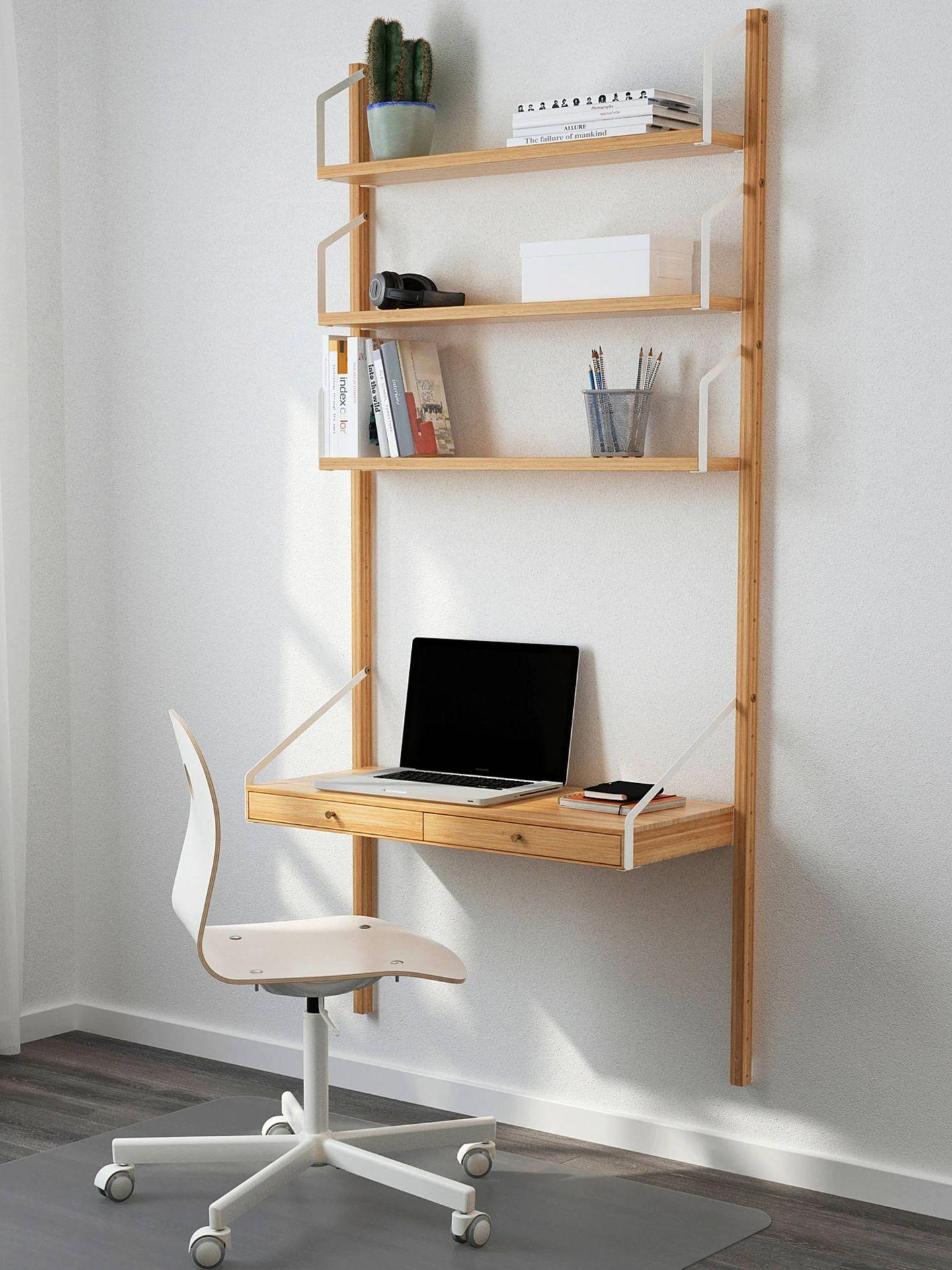 Elegantes escritorios de trabajo de Ikea. (Cortesía)