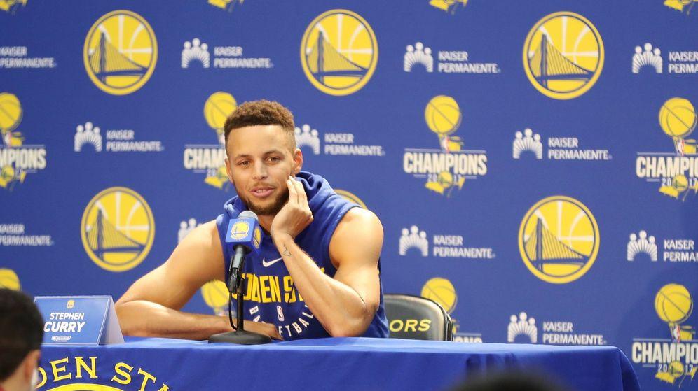 Foto: Curry, en una reciente rueda de prensa. (EFE)