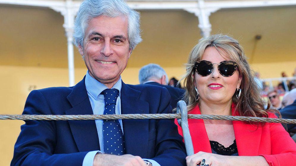Foto: Isabel Flores y Adolfo Suárez Illana. (Getty)