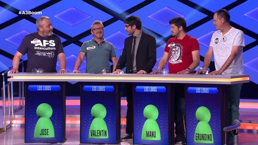 Foto: José, Valentín, Manu y Erundino, Los Lobos de '¡Boom!'. (Atresmedia)