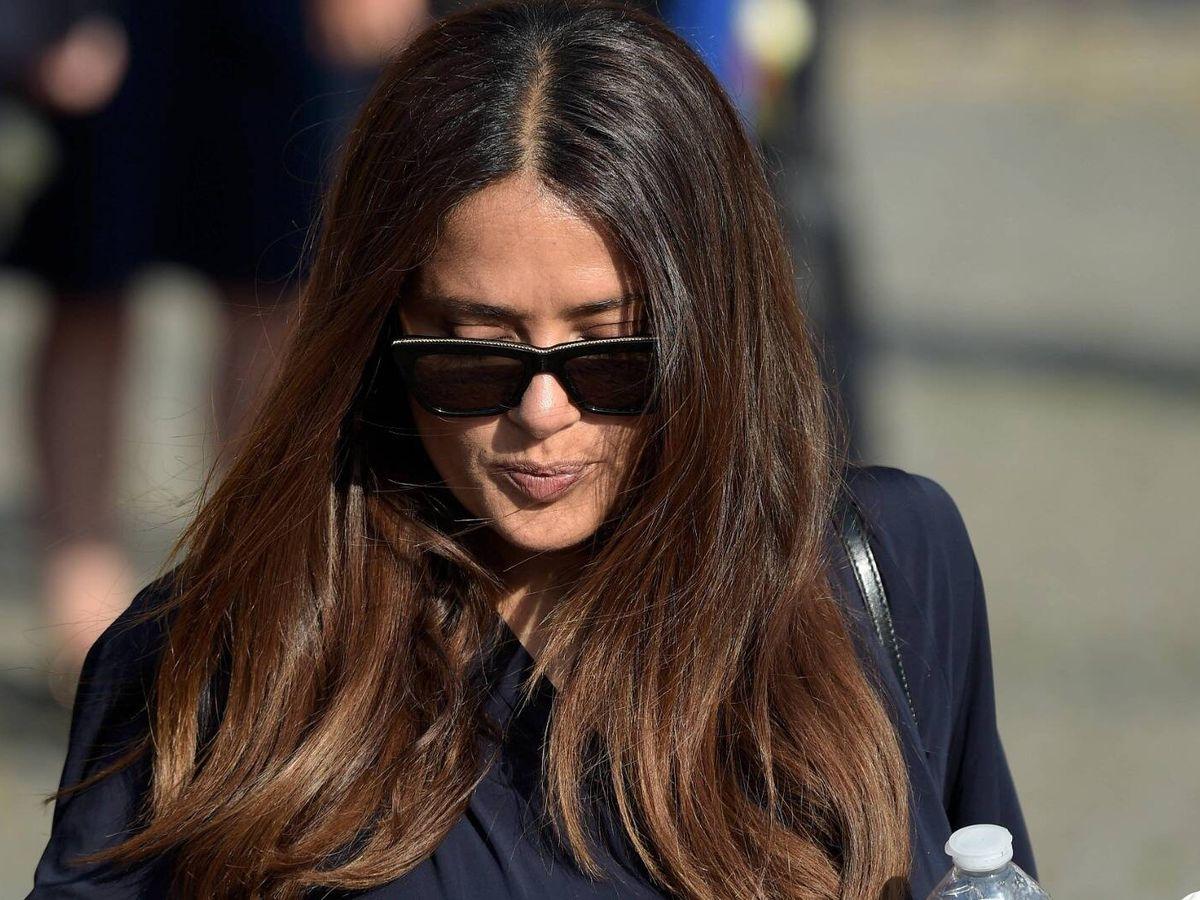 Foto: Salma Hayek, en el funeral de su cuñada Florence. (Cordon Press)