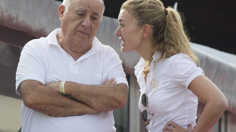 Amancio Ortega y Marta, su hija. (Getty)