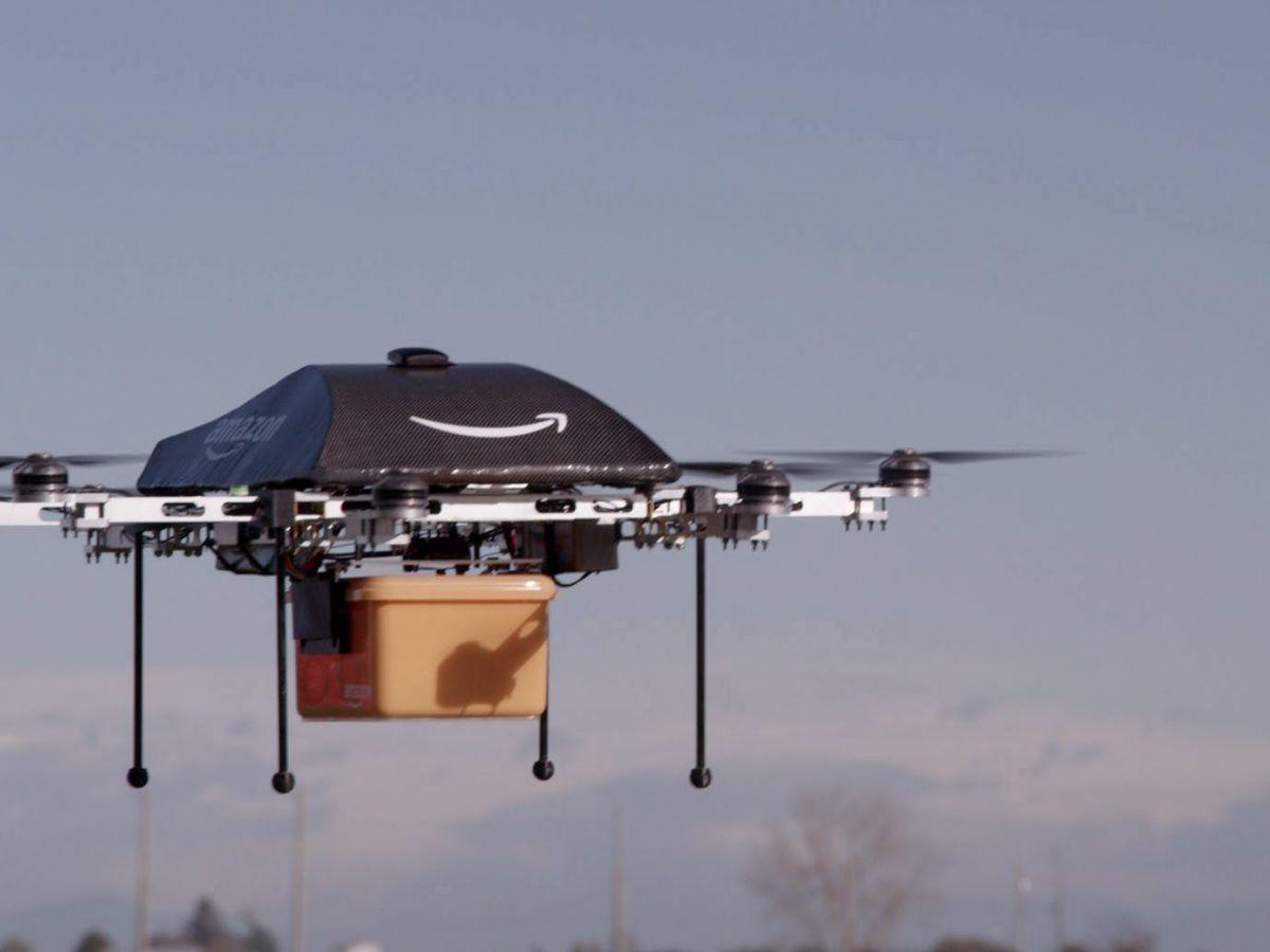 Foto: Los drones, los nuevos transportistas de Amazon. Foto: EFE/Amazon