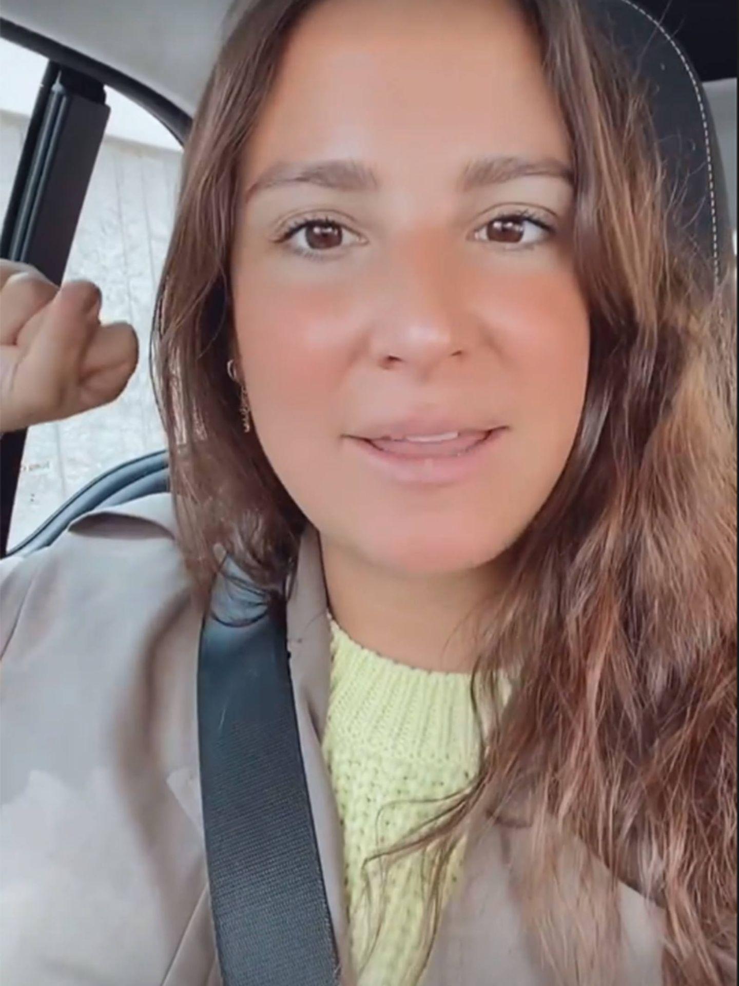 Marta Pombo, en una historia de Instagram. (@mpombor)
