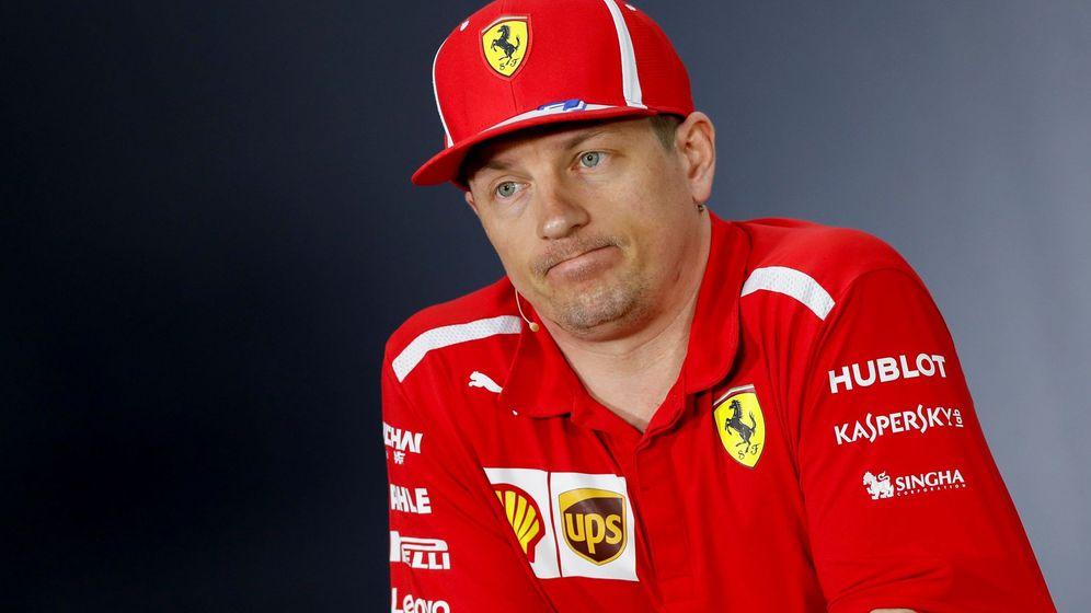 Foto: Kimi Raikkonen este jueves en la rueda de prensa previa al Gran Premio de Baréin. (EFE)