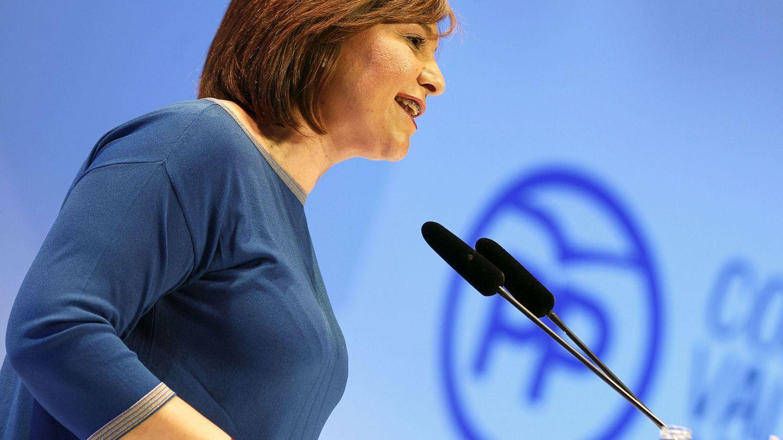 La presidenta del PP de la Comunitat Valenciana, Isabel Bonig, en el congreso. (EFE)